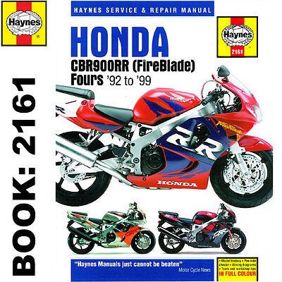 Honda CBR900RR Fireblade 1992-99 Haynes Workshop Manual