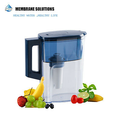 Water Pitcher 2.5L With 1 Filter BPA Free Removes Hard Metals Taste Better