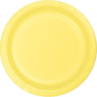 24 Mimosa Yellow Wedding Birthday Party Tableware 7