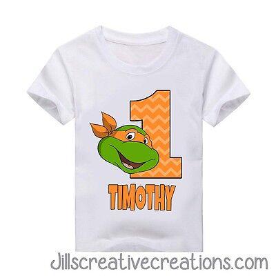 Teenage Mutant Ninja Turtle T-Shirt, Turtles, Birthday Personalized shirt, TMNT