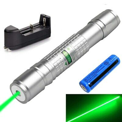 Ultra Bright Green Laser Pointer 200miles 532nm Visible Beam Lazer Penbattchar