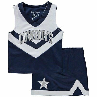 Baby Girl Dallas Cowboys (Dallas Cowboys NFL Infant Toddler Girls Victory Cheer Dress Set Always)