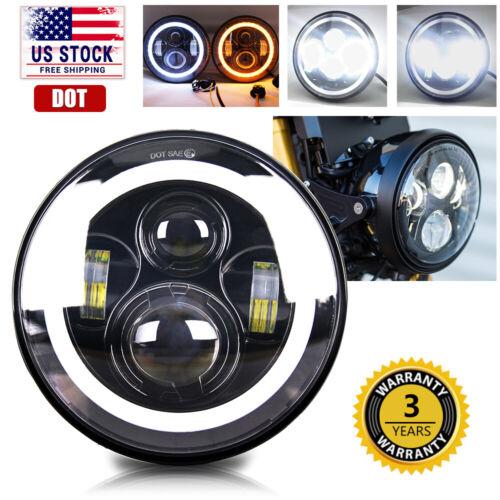 """For Kawasaki VN Vulcan 500 750 800 900 1500 DOT 7/"""" INCH LED Headlight Projector"""