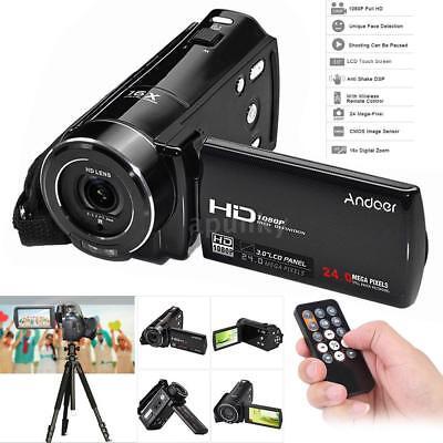 Andoer FULL HD 1080P 24MP 16X ZOOM Digital DV VideoKamera DVR Camcorder Handycam