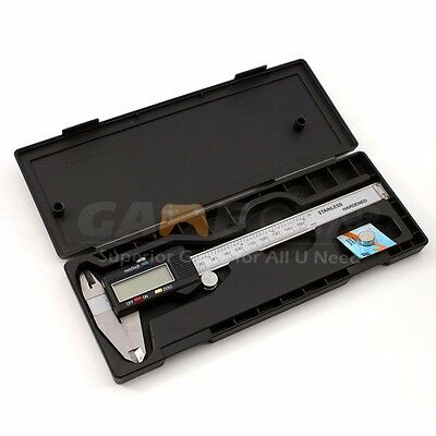 150mm6inch Lcd Digital Electronic Gauge Stainless Steel Vernier Caliper Ruler