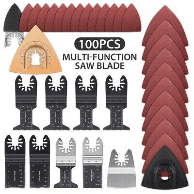 100pcs Oscillating Multi Tool Saw Blades Set Kit For Dewalt Fein Bosch Milwaukee