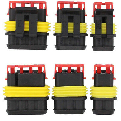 15kits 234 Pins Way Car Auto Sealed Waterproof Electrical Wire Connector Plug