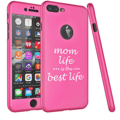 Best Life Cover - For Apple iPhone 360° Thin Slim Case Cover Mom Life Is The Best Life Mother