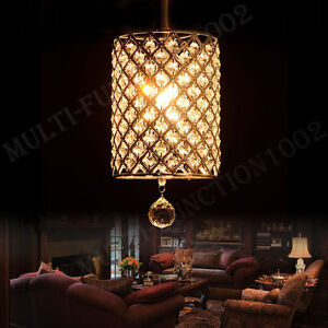 Modern Round Crystal Ceiling Light Pendant Lamp Fixture Lighting Chandelier US