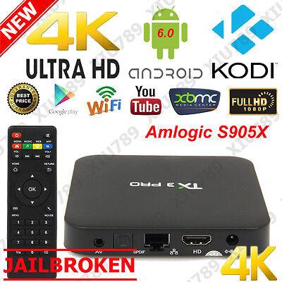 8G 4K S905X Android 6.0 TX3 Pro Smart TV Box Quad Core XBMC KODI16.1 Loaded UK