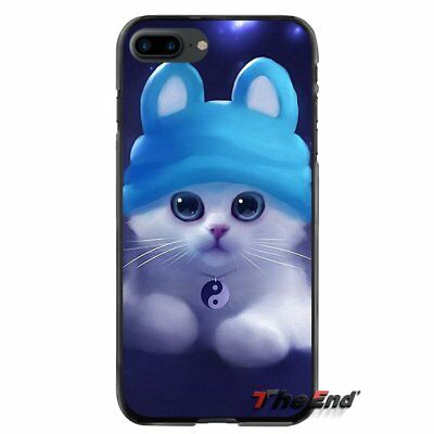 Best Yin And Yang The Cat Cute For iPhone X 4S 5S SE 6S 7 8 Plus Phone