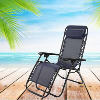 Garden Armchair Folding Reclining Outdoor Patio With Armrest Chair Backrest