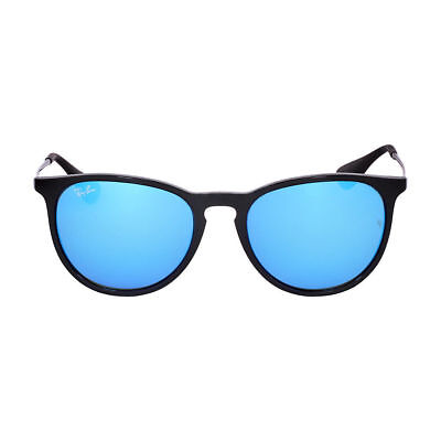 Ray-Ban Unisex Mirrored Erika RB4171-601/55-54 Black Round Sunglasses