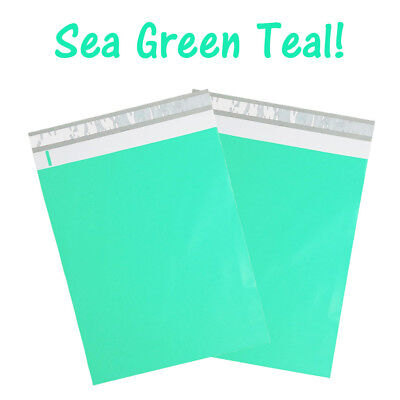 12 X 15 Sea Green Teal Poly Mailers Flat Designer Mint Shipping Self Seal Bags