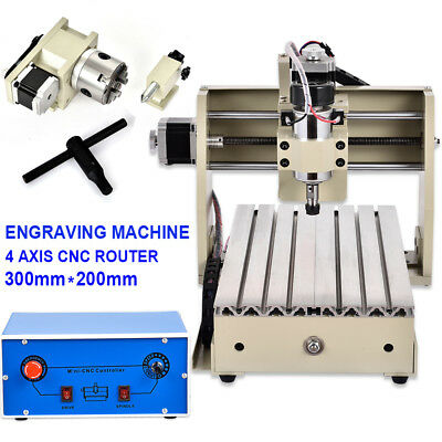 Cnc 3020 4 Axis Engraver Router 3d Engraving Milling Drilling Machine Desktop Us