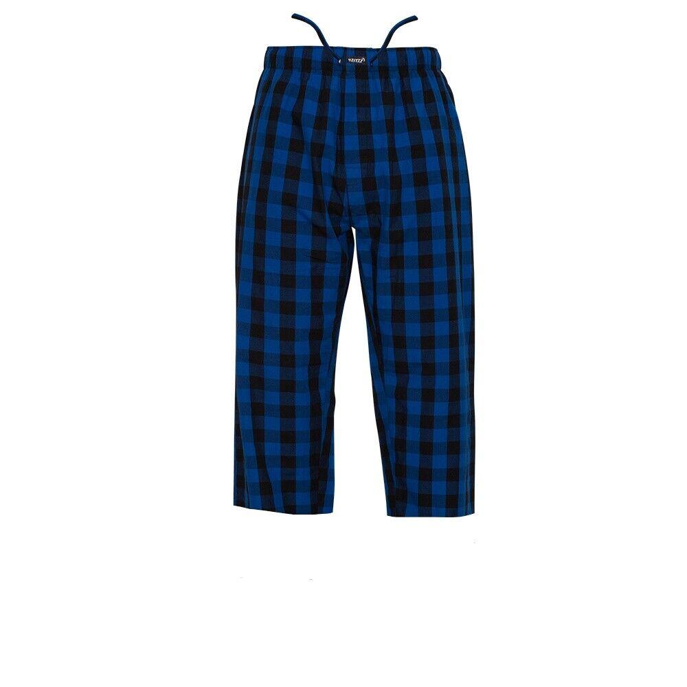 Ritzy Men's 3-Quarter Pajama Pants 100% Cotton Plaid Woven Poplin – B&W Checks Clothing, Shoes & Accessories