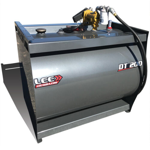 LEE>> DT 200 / One 200 Gallon Diesel Fuel Tank w/ 13GPM Pump Gray