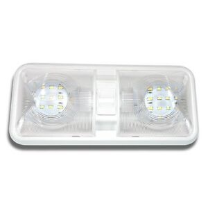 1 NEW RV LED 12v CEILING FIXTURE DOUBLE DOME LIGHT FOR CAMPER TRAILER RV MARINE  sc 1 st  eBay : rv luminaire lighting - www.canuckmediamonitor.org