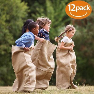 12 - 24x40 Burlap Bags, Burlap Sacks, Potato Sack Race Bags, Sandbags Gunny - Sack Race Sacks