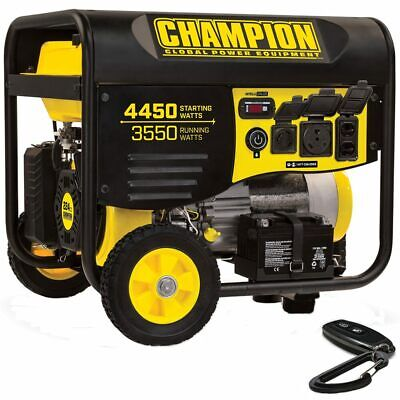 Champion 100433 - 3550 Watt Electric Start Portable Generator W Rv Outlet ...