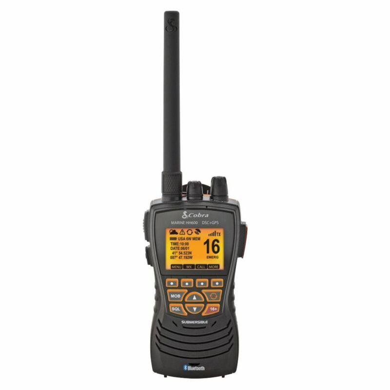 Cobra MRHH600 Floating Waterproof Handheld VHF Radio GPS Bluetooth DSC Rewind