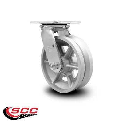 Scc 6 X 2 V Groove Semi Steel Wheel Swivel Caster - 1200lbscaster