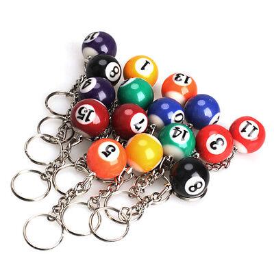 Creative Table Ball Billiards Pendant Keyring Sport Bag Car Phone Keychain Decor