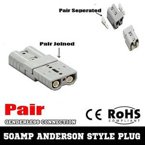 Pair of Premium Anderson Style Plug 50AMP Connector DC Power Wangara Wanneroo Area Preview