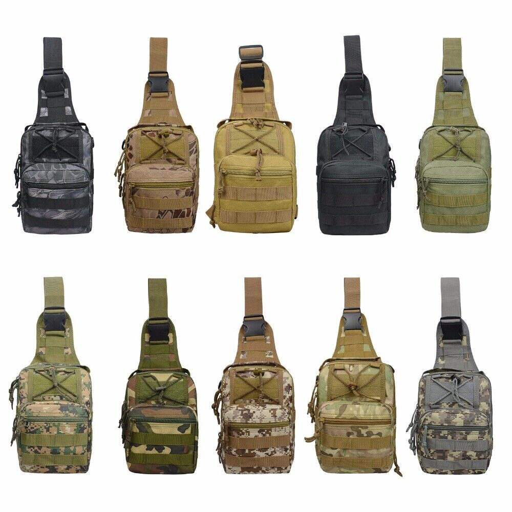 Tactical Sling Bag Chest Pack EDC Molle Backpack Hiking Dayp