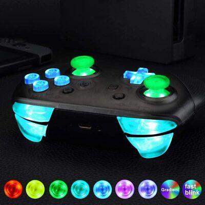 Multi-Colors Nintendo Switch Pro Controller Luminate Easy Install Light Kit