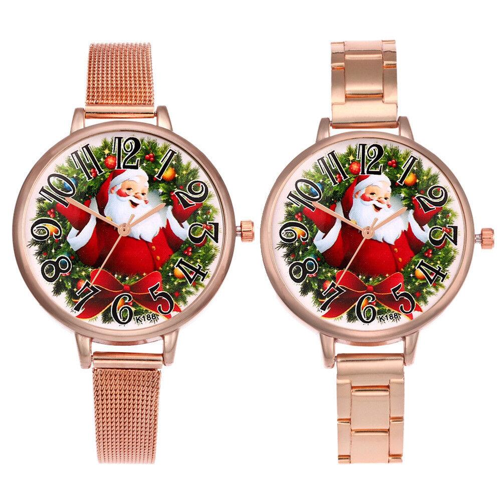 Luxury Women Christmas Quartz Analog Small Dial Delicate Watches Wrist Watch