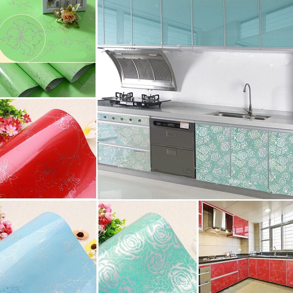 Diy Vinyl Wall Art Contact Paper : Yazi gloss vinyl anti oil wall stickers contact paper