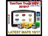 Tomtom Truck Satnav - Europe LATEST 2017 Map ,HGV, Lorry, Caravan, Car, Trailer*BARGAIN*