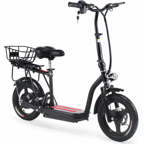 SAY YEAH Cruiser 48v 350w Lithium Electric Scooter MotoTec Adult E-bike Black
