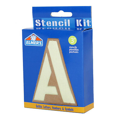 """Letters Numbers Symbols Stencil Kit 76mm/3"""" Uppercase Poster Sign Painting"""