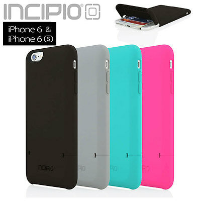 "Incipio iPhone 6S 6 Case 4.7"" Stashback Credit Card Dual Layer Wallet Flip Cover"