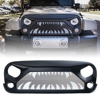 Xprite Gladiator Grille w/ Monster Teeth Steel Mesh for 2007-2018 Jeep Wrangler