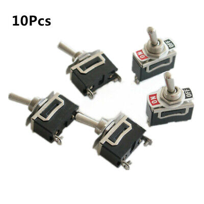 10pc Spst 2 Screw Terminal Heavy Duty 10a 125vac Onoff Rocker Toggle Switch 12v