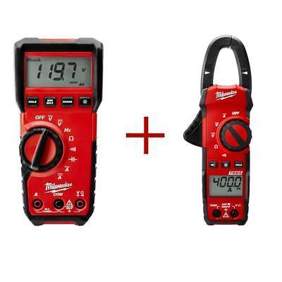 Milwaukee Tester Digital Clamp Meter Value Bundle Voltage Multimeter 400 Amp