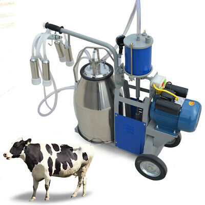 Electric Milking Machine W Accessories For Farm Cow Cattle Bucket Vacuum Pump