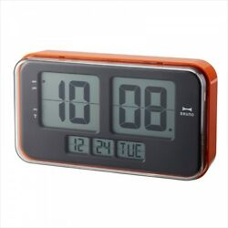 NEW Bruno Retro LCD Digital Alarm Clock L Orange Wall-Mounted BCR004-OR Japan