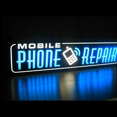 Mobile Phone Repair Led Signs Cell Computer Blue Light Box Neon Alternative