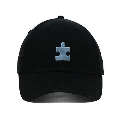 Autism Puzzle Embroidered SOFT Unstructured Adjustable Hat Cap
