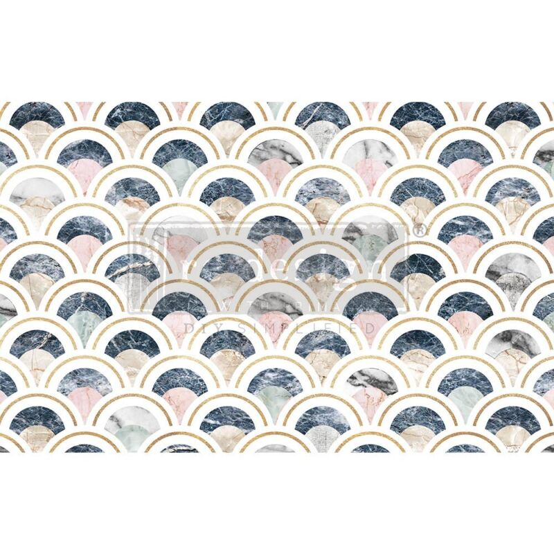 Marbled Scales Decoupage Decor paper by redesign with Prima!