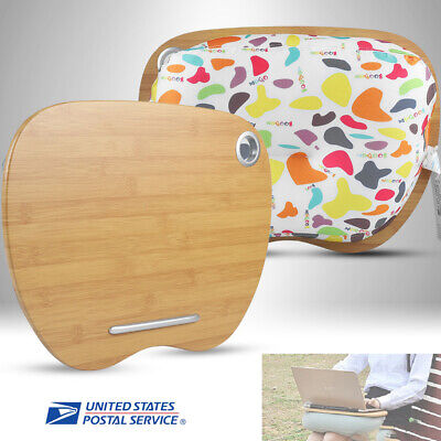 3 in1 Portable MDF Pillow Lap Desk Laptop Tray For 14