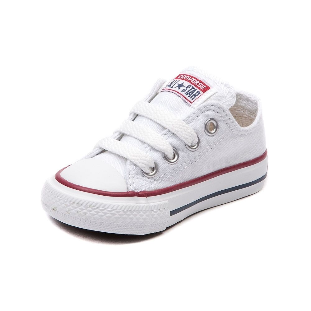 ... Converse All Star Low Chucks Infant Toddler Optical White Canvas Shoe  7J256 фото ... bf988bafd2720