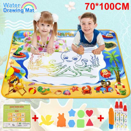 70*100cm  Kinder Magic Doodle Malmatte Matte wie Aqua Doodle Malen mit Wasser DE