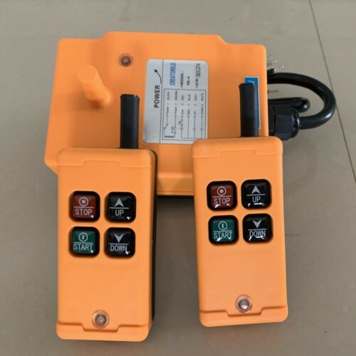 2 Tansmitters 4 Channels Industrial Wireless Crane Switch Hoist Remote Control