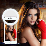 Selfie LED Ring Flash Luminous Fill Light Clip For iPhone Andriod Smart Phones