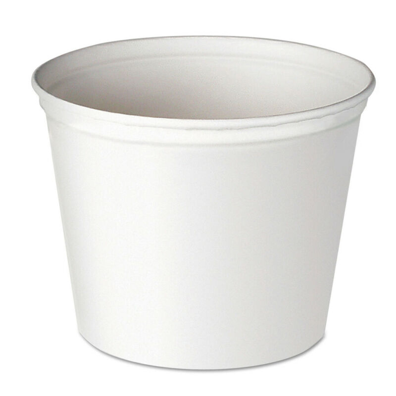 SOLO Double Wrapped Paper Bucket, Unwaxed, White, 165oz, 100/carton 10T1UU NEW